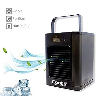 BEST DIRECT Cool HP As seen on TV Lufterfrischer Mini 3-stufiger Lüfter Mit Fernbedienung Luftfilter Befeuchter mit Wassertank: 500ml Für Zuhause/Büro/Camping