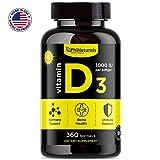 Phi Naturals Vitamin D3 1000 IU 360 Softgels