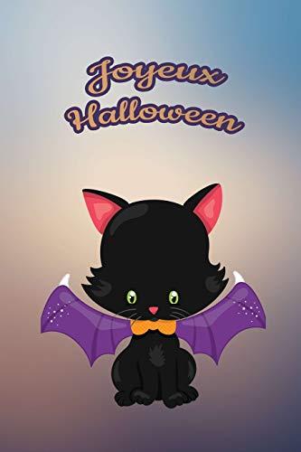 Joyeux Halloween: Pour nos petits : Petit carnet de notes de 121 pages lignées avec couverture et pages sur le thème d'Halloween
