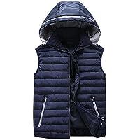 GXS Además chalecos de tamaño. Algodón de abrigo con capucha de los hombres. Adición de fertilizantes para aumentar la chaqueta chaleco , 4xl , black