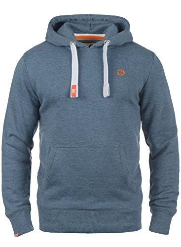 !Solid BennHood Herren Kapuzenpullover Hoodie Pullover Mit Kapuze Und Fleece-Innenseite, Größe:L, Farbe:Grey Blue Melange (1946M)