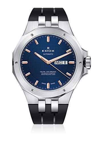 Edox Men's Dolphin Day-Date Date Weekday Analog Automatic Watch 88005 3CA BUIR