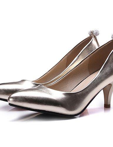 WSS 2016 Chaussures Femme-Habillé / Soirée & Evénement-Bleu / Rose / Argent / Or-Kitten Heel-Talons / Escarpin Basique / Bout Pointu-Chaussures à silver-us6.5-7 / eu37 / uk4.5-5 / cn37