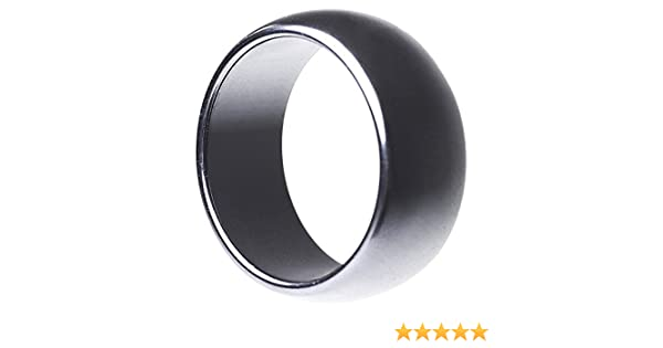 Zen Crystals Rounded Edge Hematite Ring - Suitable for Men and Women - Wide range of sizes available
