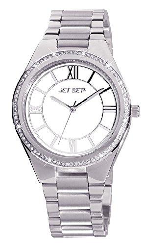 Jet Set–j12134-662–Aruba–Ladies Watch–Analogue Quartz–White Dial–Steel Bracelet Silver