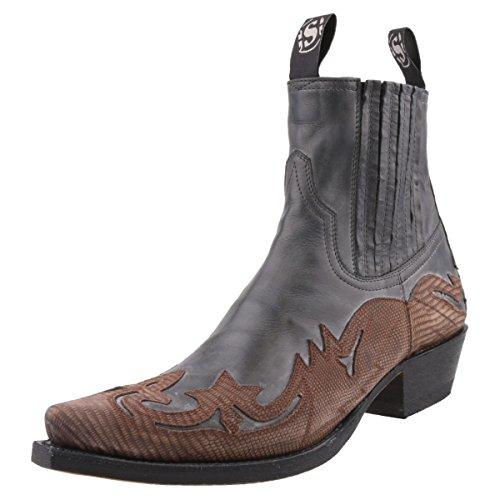 Sendra Boots - Botas de Piel para Hombre Gris Grau Grau/Braun, Color Gris, Talla 42