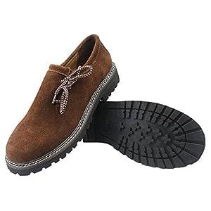 ALL THE GOOD Trachten Schuhe Haferlschuhe Brown Almhaferl Oktoberfest Trachtenschuhe Aus Wildleder Brown