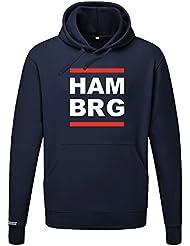 HAM BRG - HAMBURG - HERREN UND DAMEN HOODIE