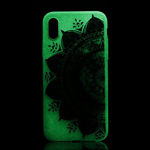iPhone X Custodia, iPhone X Cover Silicone Transparente, JAWSEU Agganciabile Luminosa Colorate iPhone X Custodia Protettivo Skin Shell Slim Fit Chiaro Corpeture Case Antiurto Creativo Disegno Anti-scr Totem #2