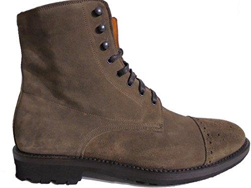 GEREMIA  VELOUR ARDESIA, Chaussures de ville à lacets pour homme ITA - 40 UOMO Marron