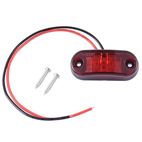 Led-bremslicht Anhänger (2 x LED Rückleuchten Heckleuchte Anhänger LKW Rückfahrlicht Bremslicht (Red))