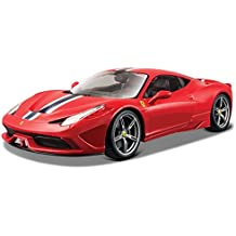 Bburago - 1/18 Ferrari Race & Play 458 Speciale, color rojo (18-16002)