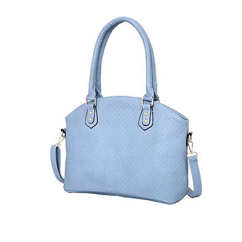Hautefordiva , Damen Tote-Tasche rose L hellblau