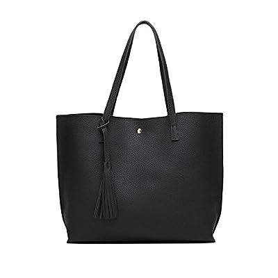 Sac à bandoulière sac à main des femmes de couleur solide de grande capacité Top-Handle Lady Sacs Messenger Sacs à main Tote occasionnels