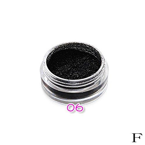 Puder OyedensMode Glitzer Pulver Make Up Lidschatten Puder F (Make-up Pulver)
