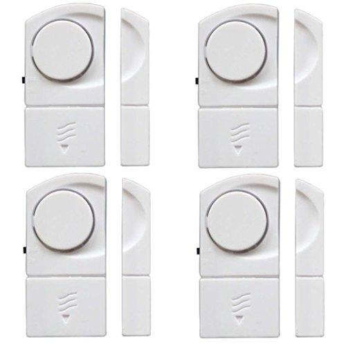 Preisvergleich Produktbild 4er 100 dB Fensteralarm Set Türalarm Fenster Alarm Tür Alarmanlage Sicherheit Sirene