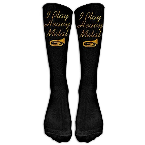 b4f42181787 Nicegift I Play Heavy Metal Funny Tuba Comfort Cool Vent Crew Socks 19.68  Inches