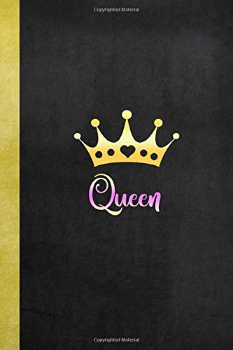 Queen: Queen Notebook Journal Ruled Lined Girl Women Writing Book Diary Composition School Notepad 120 Pages 6x9