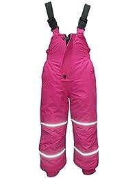 Outburst - Baby Schneehose Skihose Mädchen Fleece wasserdicht 10.000 mm Wassersäule, pink