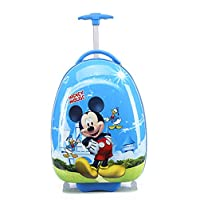 "16"" McQueen Elsa Anna Barbies Micky Mouse Minnie Minion Spiderman Children Kids Holiday Travel Character Suitcase Luggage Trolley Bags"
