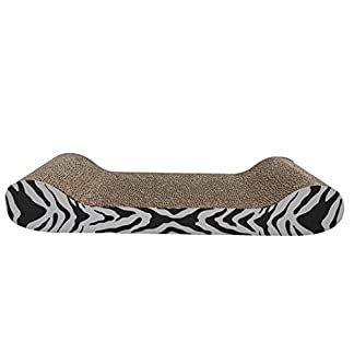 Catit Tiger Design Patterned Scratching Board with Catnip, Lounge 12
