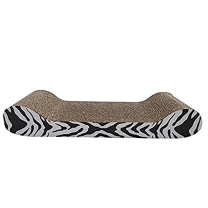 Catit Tiger Design Patterned Scratching Board with Catnip, Lounge 1