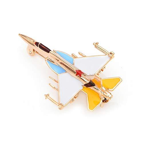 WYLBQM Brosche Baby Emaille Sterne Kampf Flugzeug Brosche Pins Design Brosche für Frauen Männer Kostüm Flugzeug Brosche Geschenk