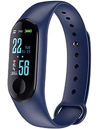 Slri Reloj Inteligente Deportivo Presión Arterial Frecuencia cardíaca Pulsera Rastreador de Ejercicios - Azul