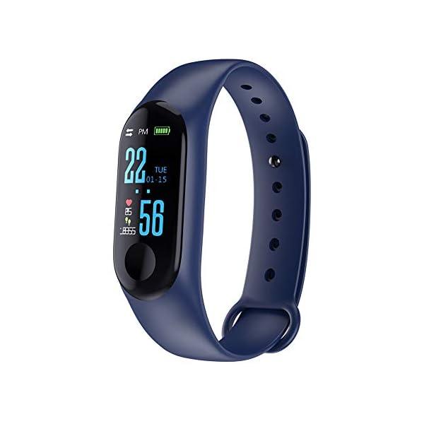 Reloj de pulsera inteligente, pulsera de actividad física, color azul 1