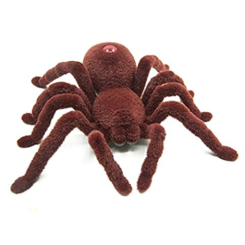 Spider Remote Control, KEERADS RC Big Scary Tarantula Radio Remote Control Spider Battery Operated New Brown