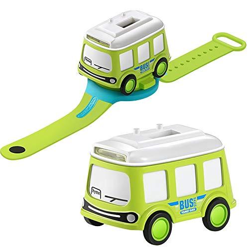 Msddc Legierung Uhr Interactive Induktions-Auto-Spielzeug Pull-Back Spielzeug-Rennsportwagen mit Uhr-Kind-Geburtstags-Geschenk (Color : Grün)