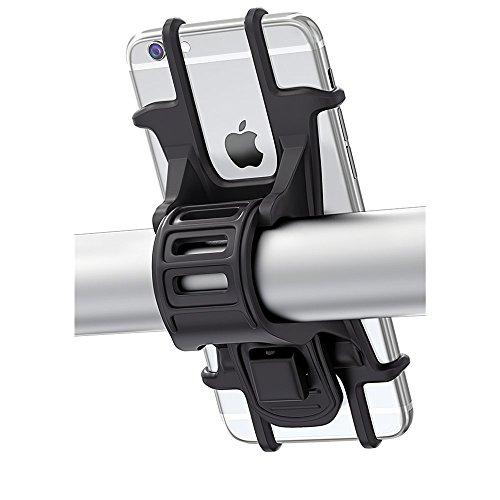 Bovon Universal-Halterung für Fahrradlenker, verstellbar, Silikon, für iPhone X/8/7/6 Plus, Samsung Galaxy S9/S8 Plus, 11,4 cm - 15,2 cm Handys, ideal für Rennräder, Mountainbikes und Motorräder
