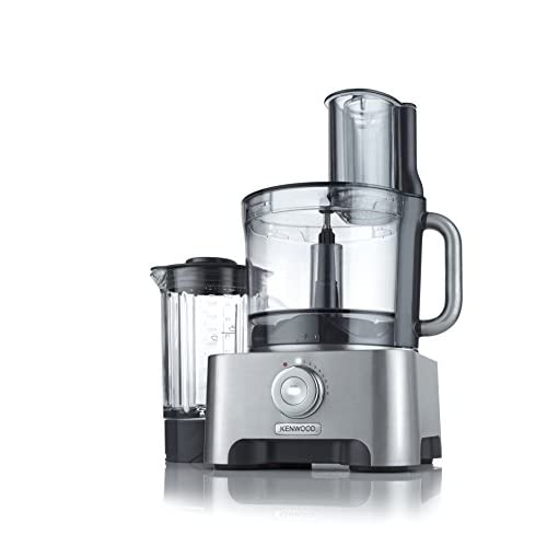 41ZcFi1IShL. SS500  - Kenwood FPM910 Multi-Pro Excel Food Processor, 4L bowl, 1.6L Thermoresist glass blender, 6 attachments + 7 slicing & grating plates, built in weighing scales, 1300 W, Silver