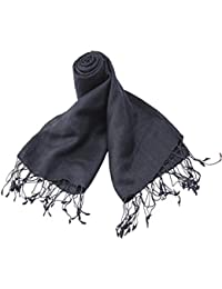Abster Self Design Silk Pashmina Stole (Jet Black) AB-SP-JET BLACK
