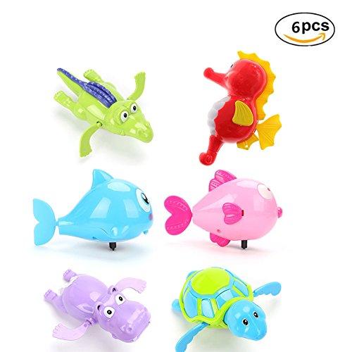 Myanburm Wasserspielzeug Baby, 6 Stuck Spielzeug Badespielzeug Wasserspielzeug Kinder BadeSpielzeug für Badewanne Schwimmender Tauchpartner Badewannenspielzeug Zufällige Farben (Sechs Sätze)