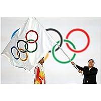 philna12poliéster bandera de aros olímpicos