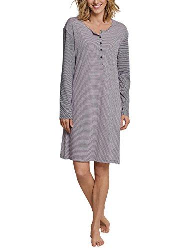 Schiesser Damen 1/1, 95cm Nachthemd, Grau (Graphit 207), 36