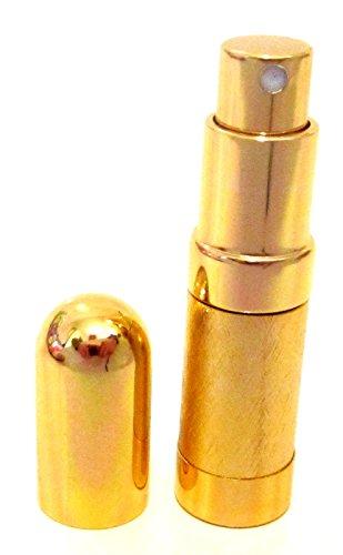 Parfum 6 ml Lotion après-rasage atomiseur atomiseur bottle- Voyage Vaporisateur Rechargeable doré