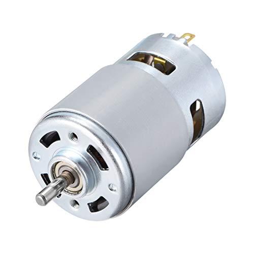 Sourcing Map DC-Motor 24 V 10.000 U/min 0,4 A magnetisch Dual Kugellager D-Schaft für RC Boot Spielzeug Modell DIY Hobby (Motor / 10 Min-dc U)