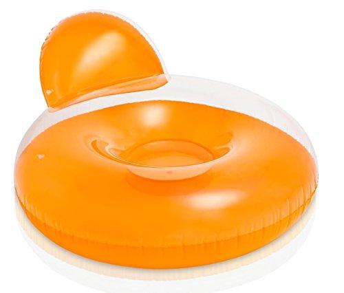 Luftmatratze Lounge Lehne für Pool Garten in orange