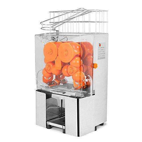 Chaneau Centrifugeuse Jus 120W Commercial Centrifugeuse Jus Orange Jus d'orange Machine Plastique...