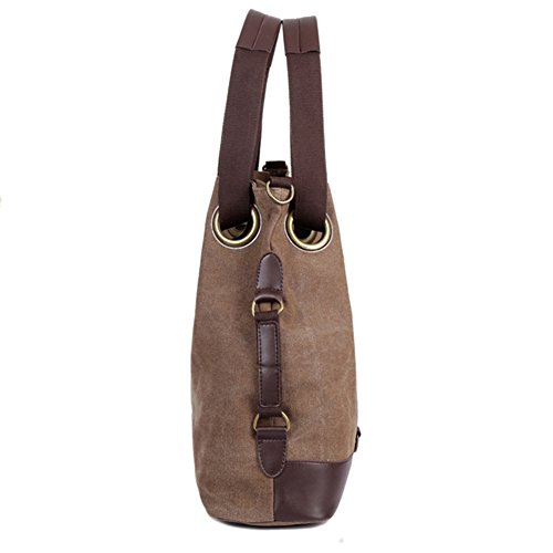 Damen der Frauen Casual Vintage Canvas Handtasche Täglichen Handtasche mit Doppelgriff Superior-Handtasche Schulter Handtasche braun