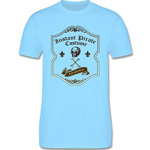 Piraten & Totenkopf - Instant Pirate Costume - Just add Rum - Herren Premium T-Shirt Hellblau