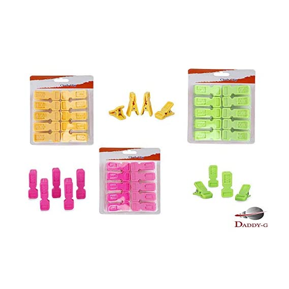 DADDY - G? Non Slip Clothes Hanger Hanging Hooks Grip Clothes Clips Pegs Set (Set of 30 Pcs)