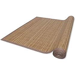 Alfombra de bambú Natural Color marrón, 200 x 300 cm