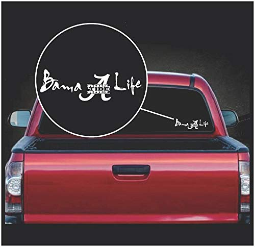 Celycasy Bama Life Alabama Crimson Tide Vinyl-Aufkleber Alabama Crimson Tide Laptop