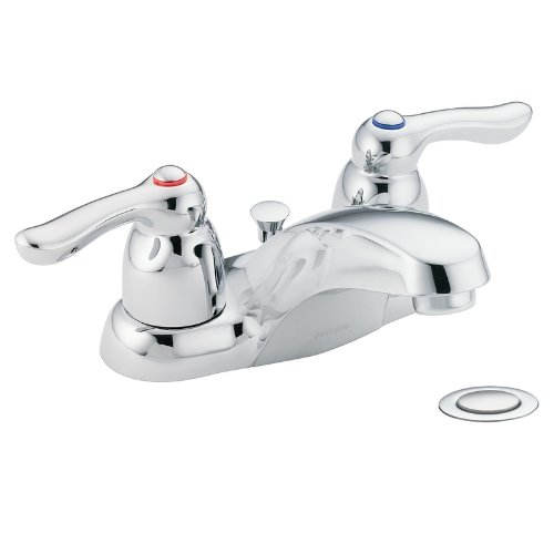 Moen 4925 Chateau Zweigriff Low Arc Badezimmer Wasserhahn, Chrom (Moen Low-arc Bad Wasserhahn)