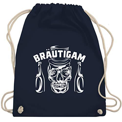Kostüm Gym Bro - JGA Junggesellenabschied - Bräutigam Totenkopf Bier - Unisize - Navy Blau - WM110 - Turnbeutel & Gym Bag