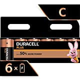 Duracell Plus C Alkaline Batteries, Pack of 6, 1.5 Volts LR14 MX1400