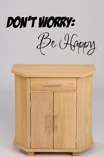 (SMALL) 'Don't Worry, Be Happy!' wall decal Vinyl Graphic by Vinylworld